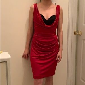 Sexy evening dress( fake two pieces)